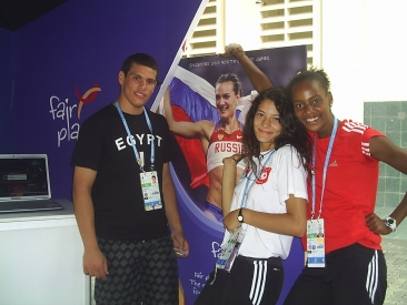 Athletes Posing for Photo