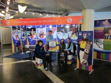 CIFP Team at Fair Play Booth in Innsbruck