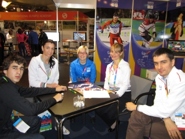 CIFP Team Playing at Booth in Innsbruck 2012 WYOG