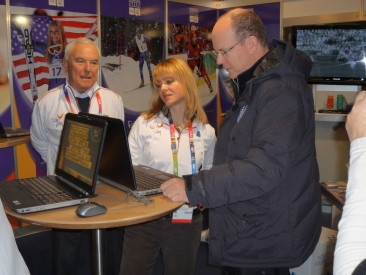 HRH Prince Albert II at CIFP Booth in Innsbruck