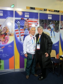 Klaus Schormann & Jenő Kamuti at CIFP Booth in Innsbruck