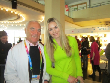 Lindsey Vonn at CIFP Booth in Innsbruck