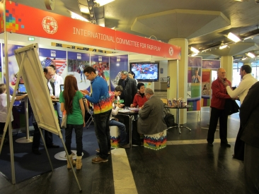 Visitors at CIFP Booth in Innsbruck