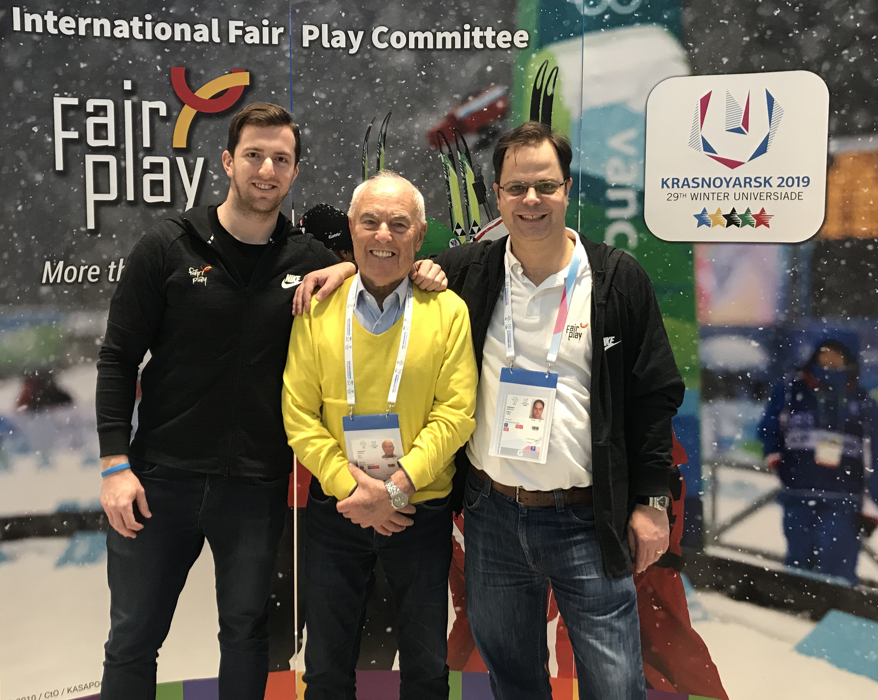 Fair Play in Siberia - CIFP Booth at Krasnoyarsk 2019 Winter Universiade