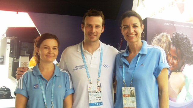 Adam Pengilly, Athlete Role Model's Visit to the CIFP Booth