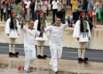 Olympic Flame in British hands