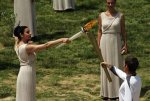 Olympic Torch relay en route to London for a second time