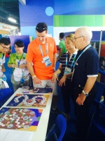 Patrick Murphy, two-time Olympic bronze medallist swimmer visits CIFP Booth