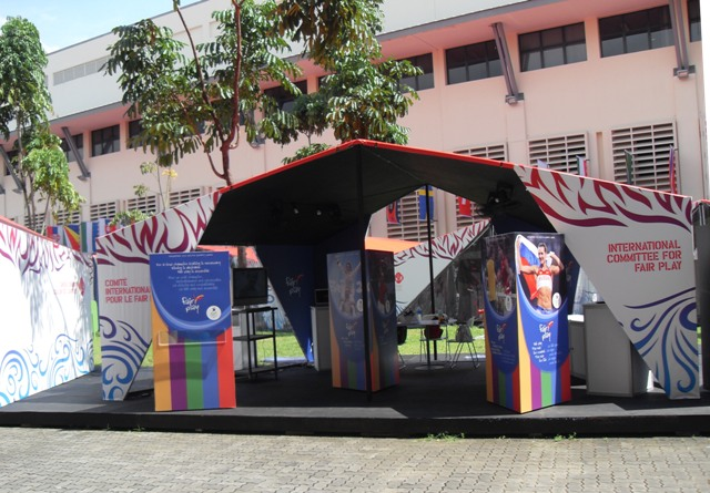 Fair Play Booth Opened at the Youth Olympic Village