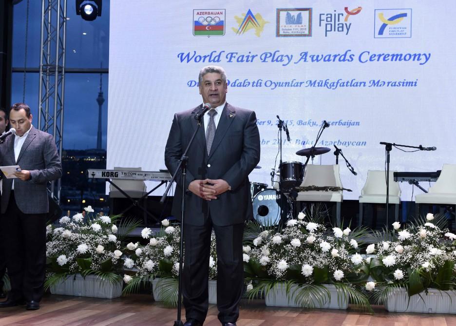 Prestigious World Fair Play Awards Ceremony in Baku