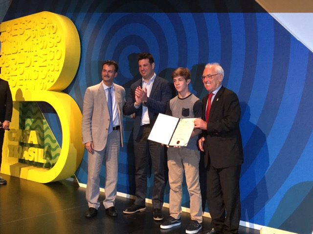 Fair Play Award for the Youth at Casa Brazil in Rio
