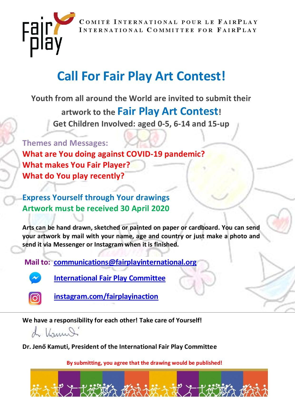 Call For Fair Play Art Contest